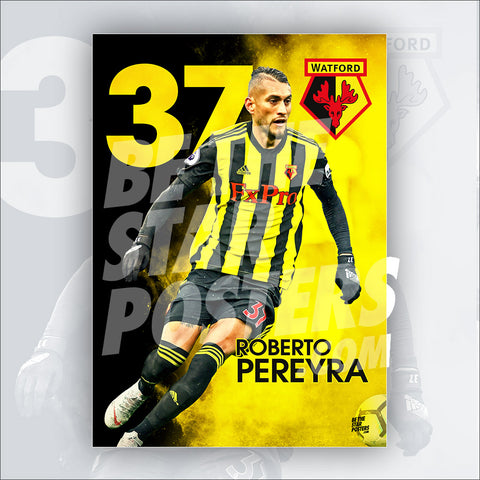 Watford FC 2018/2019 Roberto Preyra Poster - Official Licensed A3 Poster