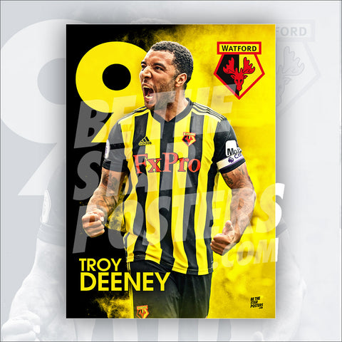 Watford FC 2018/2019 Troy Deeney Poster - Official Licensed A2 Poster