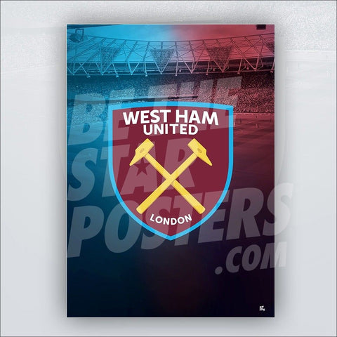 West Ham United FC 2018/2019 Crest Poster - Official Licensed A2 Poster