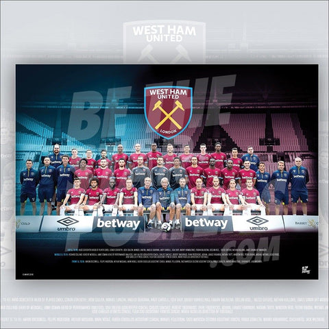 West Ham United FC 2018/2019 Squad Poster - Official Licensed A2 Poster