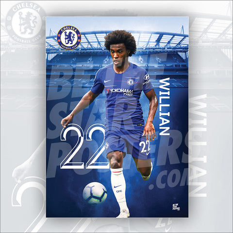 Chelsea FC Willian Poster - Official Licensed A2 Poster