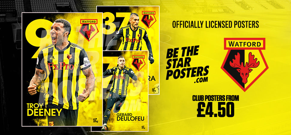 Watford Football Club Official Licenced Posters