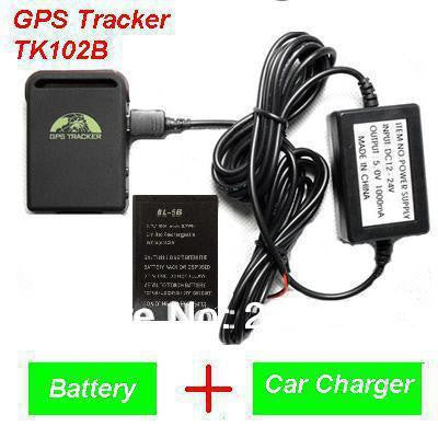 2016 New Arrival GPS Tracker TK102B + Car charger + Battery+Retail box, Free Shipping-snaapit-snaapit