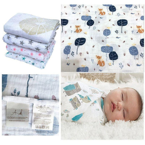 Aden Anais Multifunctional Envelopes For Newborns Receiving Blankets Bedding Infant Cotton Swaddle Towel Muslin Baby Blanket-snaapit-snaapit