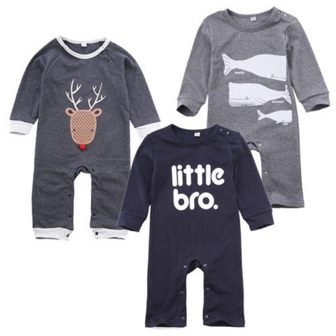 Baby Boy Girls JUMPSUIT Newborn Infant Baby Toddler Long Sleeve Deer Fish Romper Jumpsuit Clothes Outfits-snaapit-snaapit
