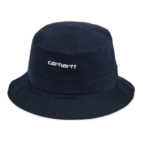 Carhartt - Script Bucket Hat - Dark Navy White