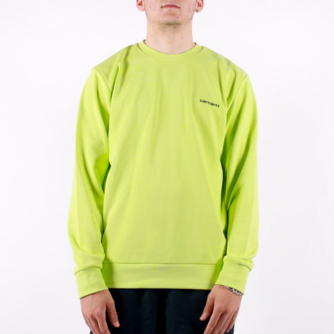 Carhartt - Script Embroidery Sweat - Lime Black