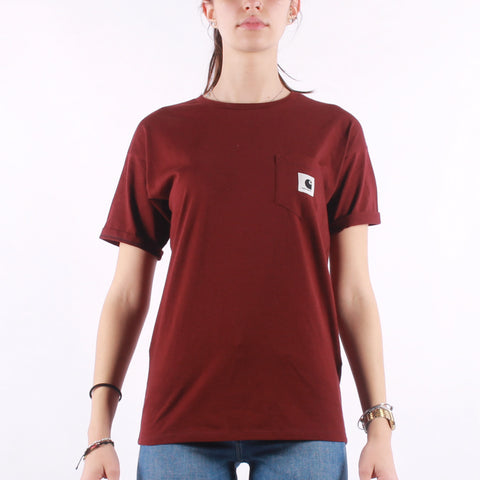 Carhartt - W SS Carrie Pocket T-Shirt - Bordeaux