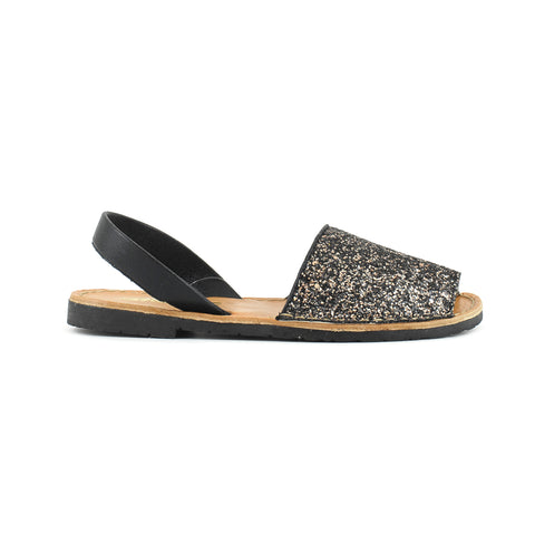 Colors Of California - Sandalo Minorca in Glitter - Black