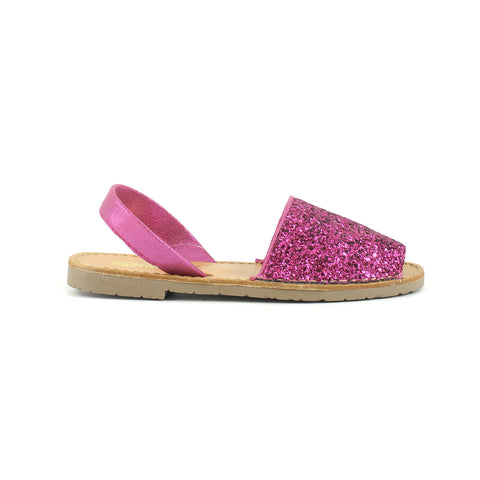 Colors Of California - Sandalo Minorca in Glitter - Fuxia