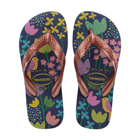 Havaianas - Kids Flores - Dark Blue Gold