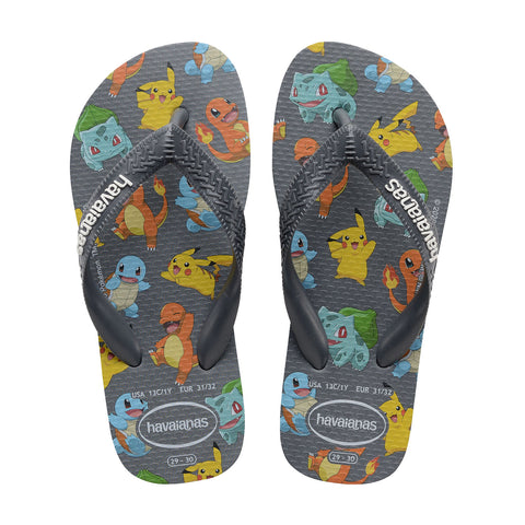 Havaianas - Kids Top Pokemon - New Graphite