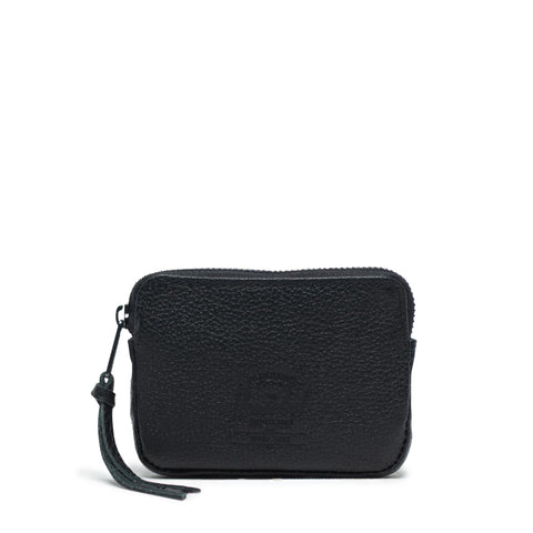 Herschel - Oxford Punch Leather RFID - Black Pebbled Leather