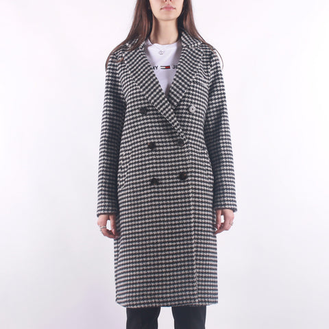 Maison Scotch - Double Breasted Tailored Coat In Wool Blend - Pied de Poulle