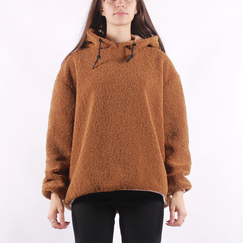 Maison Scotch - Hooded Sweat In Teddy Quality - Caramel
