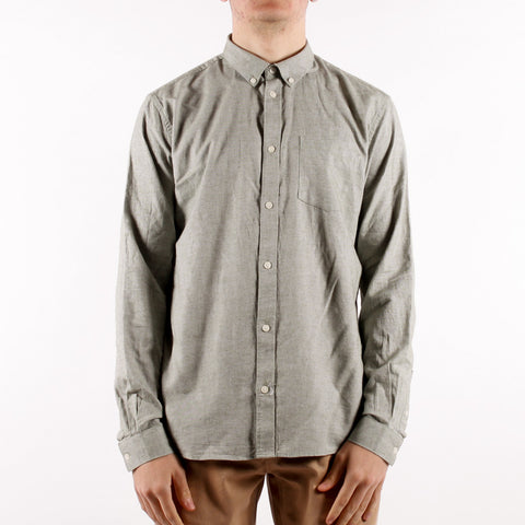 Minimum - Jay 2.0 LS Shirt - Sea Spray Melange