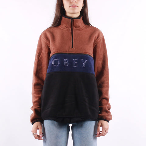 Obey - Denali Half Zip - Brown Black