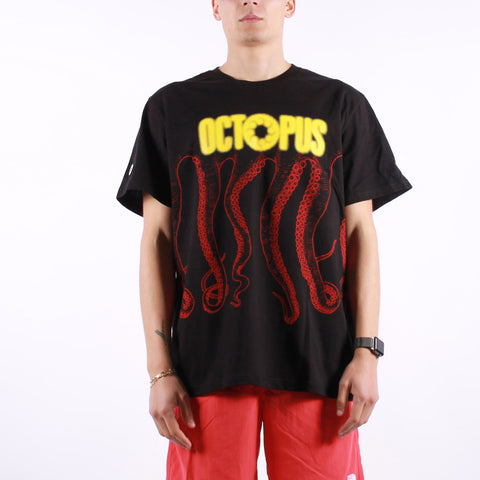 Octopus - Octopus Blurred Tee - Black