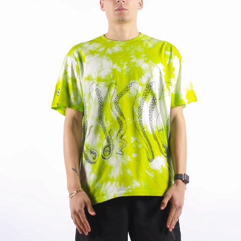 Octopus - Octopus Freak Tee - Multicolor Green