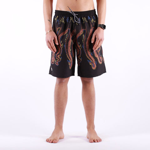 Octopus - Octopus More Fire Boardshort - Black