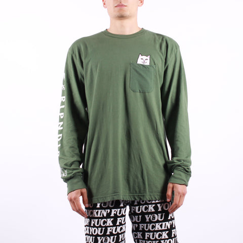 Rip n Dip - Lord Nermal Pocket Tee LS - Olive