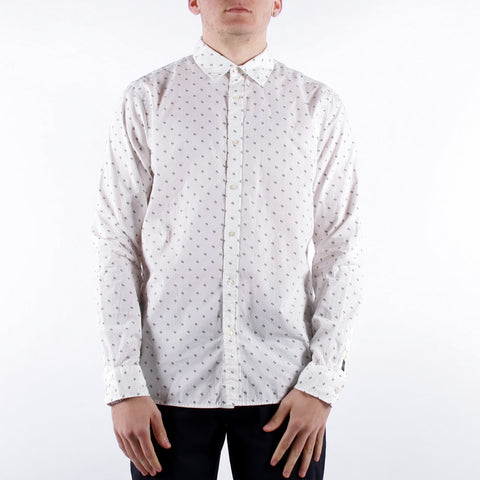 Scotch and Soda - Man Ls Shirt - 0217 White Navy Multi