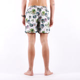 Selected - Classic AOP Swimshorts - Bone White Palm Tree