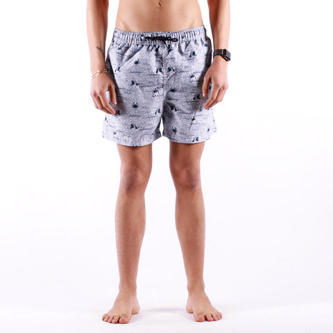Selected - Classic AOP Swimshorts - Dark Sapphire Shark