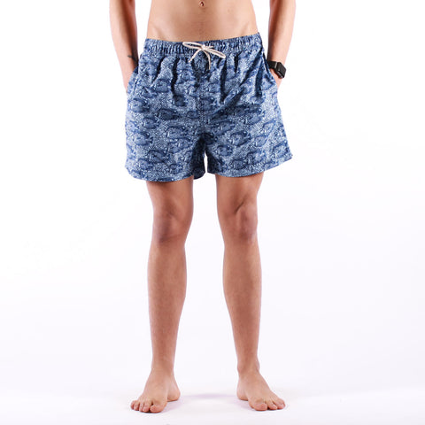 Selected - Classic AOP Swimshorts - Estate Blue Fish