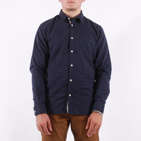 Selected - Slim Kayden Shirt - Dark Blue Neps