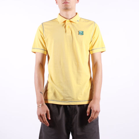 Sun 68 - Polo Cold Dye Contrast Stitching - 40 Giallo Sole