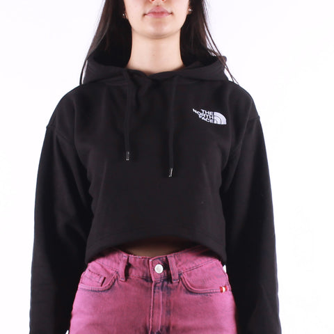 The North Face - W Logo Crop Hoodie - TNF Black