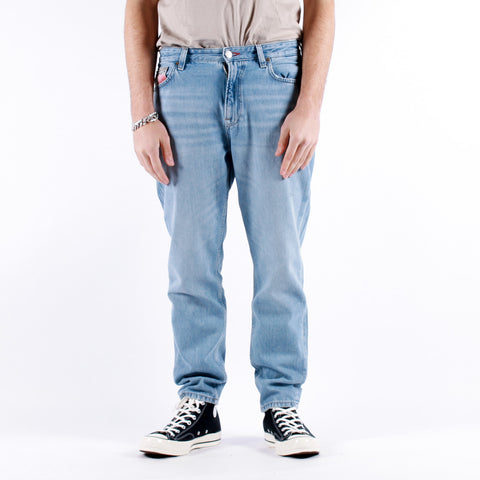 Tommy Jeans - Dad Jeans Straight - Tommy Flag Light Blue