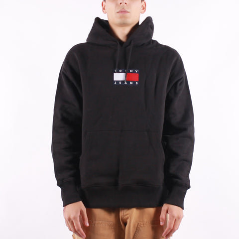 Tommy Jeans - Small Flag Hoodie - Black