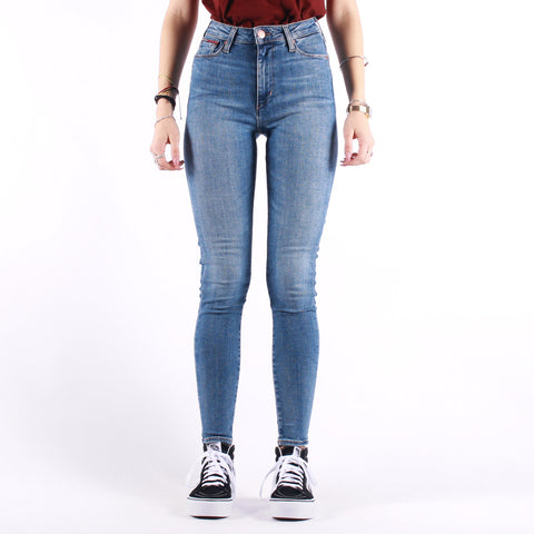 Tommy Jeans - Sylvia Super Skinny - Harlow Mid Blue