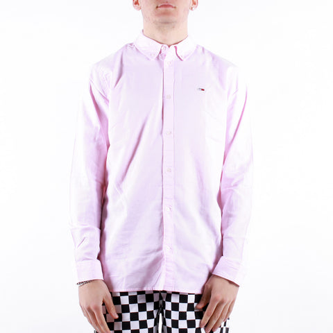 Tommy Jeans - Tjm Stretch Oxford Shirt - Pearly Pink