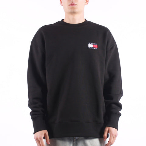 Tommy Jeans - Tjm Tommy Badge Crew - Black