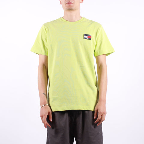 Tommy Jeans - Tjm Tommy Badge Tee - Faded Lime
