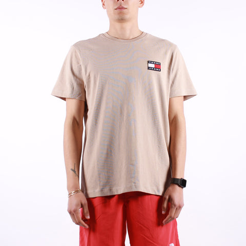 Tommy Jeans - Tjm Tommy Badge Tee - Soft Beige