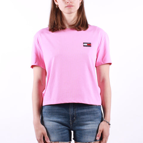 Tommy Jeans - Tjw Tommy Badge Tee - Pink Daisy