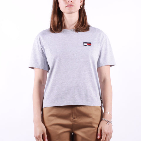 Tommy Jeans - Tjw Tommy Badge Tee - Silver Grey Heather