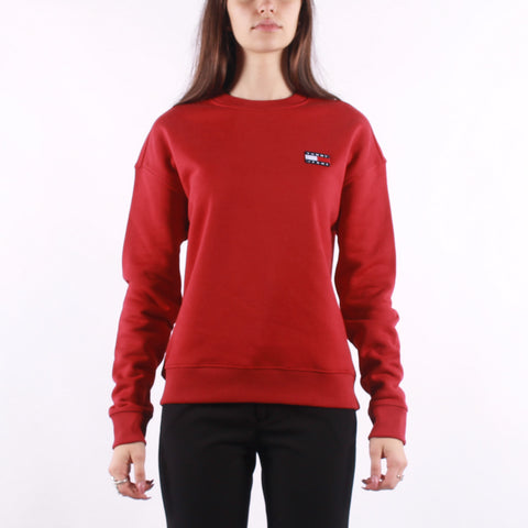 Tommy Jeans - Tommy Badge Crew - Wine Red