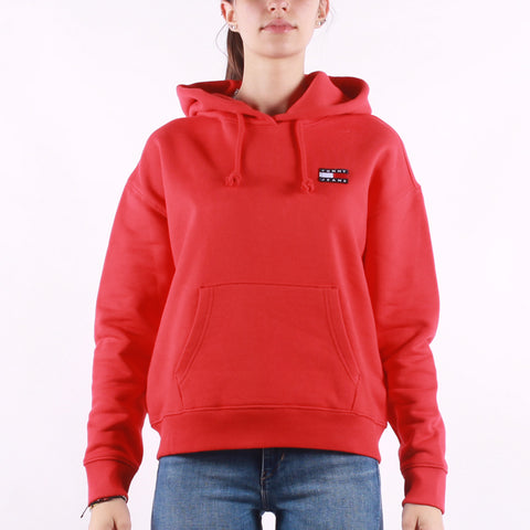 Tommy Jeans - Tommy Badge Hoodie - Deep Crimson