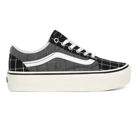 Vans - Old Skool Platfor - Woven Check Black White