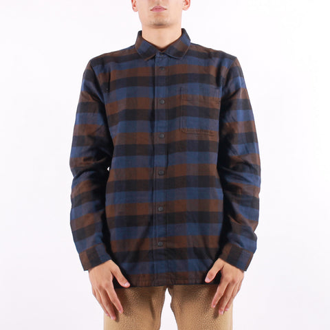 Vans - Olson Shirt - Brown Navy Black