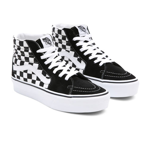 Vans - Sk8-HI Platfor 2 - Checkerboard True White