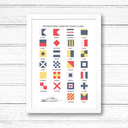 Print ~ International Maritime Signal Flags Alphabet design A3