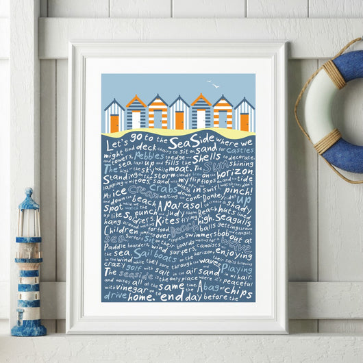 Print ~ Let's go to the Seaside design A3