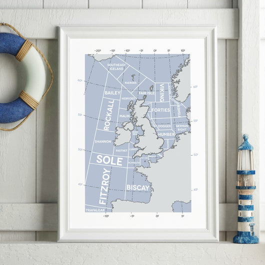 Print ~ Shipping Forecast Regions design A3