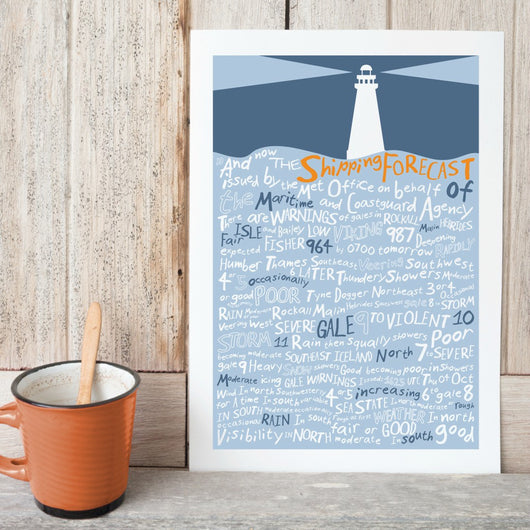 Print ~ And Now The Shipping Forecast Issued By…. A3